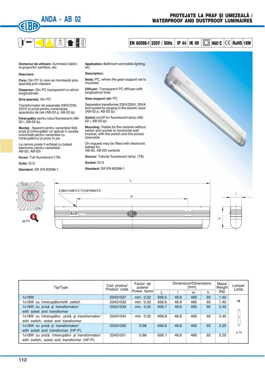 Pagina 115 - Catalog general de produse ELBA ELBA ECRAN CONTRAST, 3S2-TL-LED, 2S2-TL-LED,...