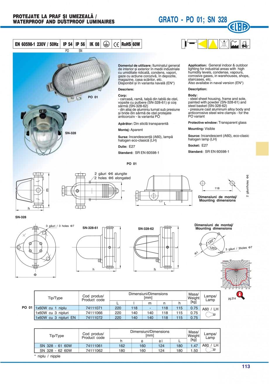 Pagina 116 - Catalog general de produse ELBA ELBA ECRAN CONTRAST, 3S2-TL-LED, 2S2-TL-LED,...