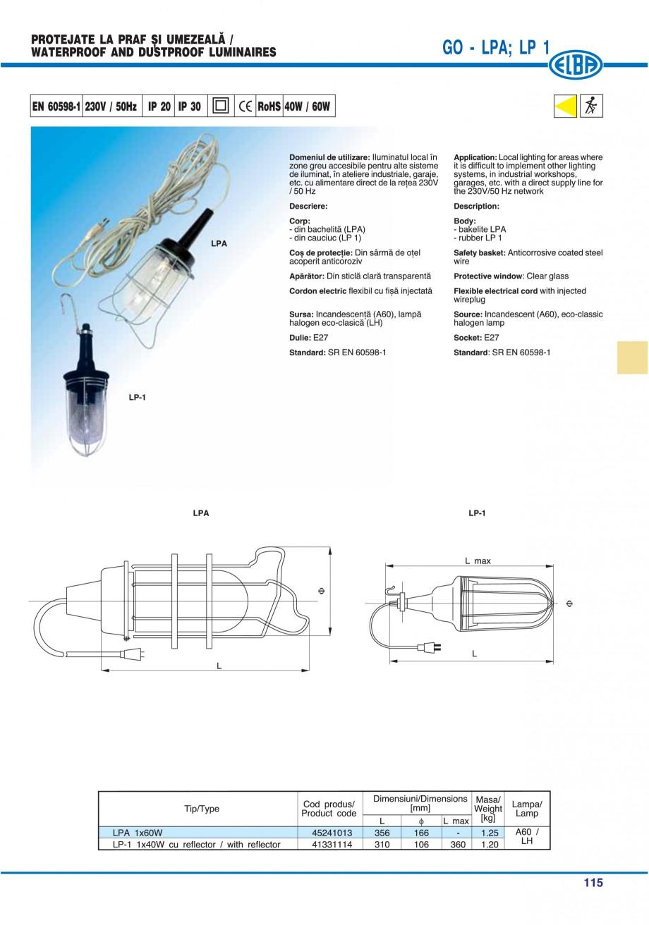 Pagina 118 - Catalog general de produse ELBA ELBA ECRAN CONTRAST, 3S2-TL-LED, 2S2-TL-LED,...