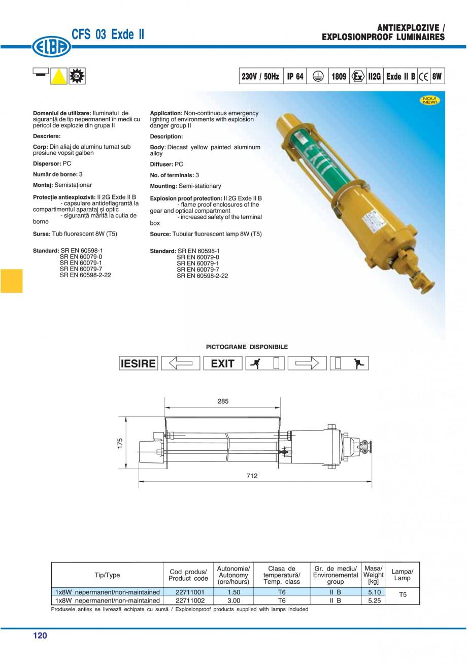 Pagina 123 - Catalog general de produse ELBA ELBA ECRAN CONTRAST, 3S2-TL-LED, 2S2-TL-LED,...