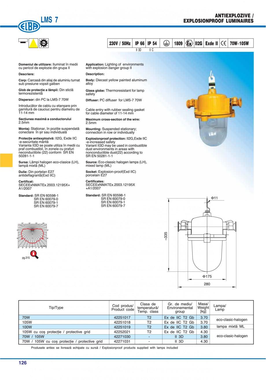 Pagina 129 - Catalog general de produse ELBA ELBA ECRAN CONTRAST, 3S2-TL-LED, 2S2-TL-LED,...
