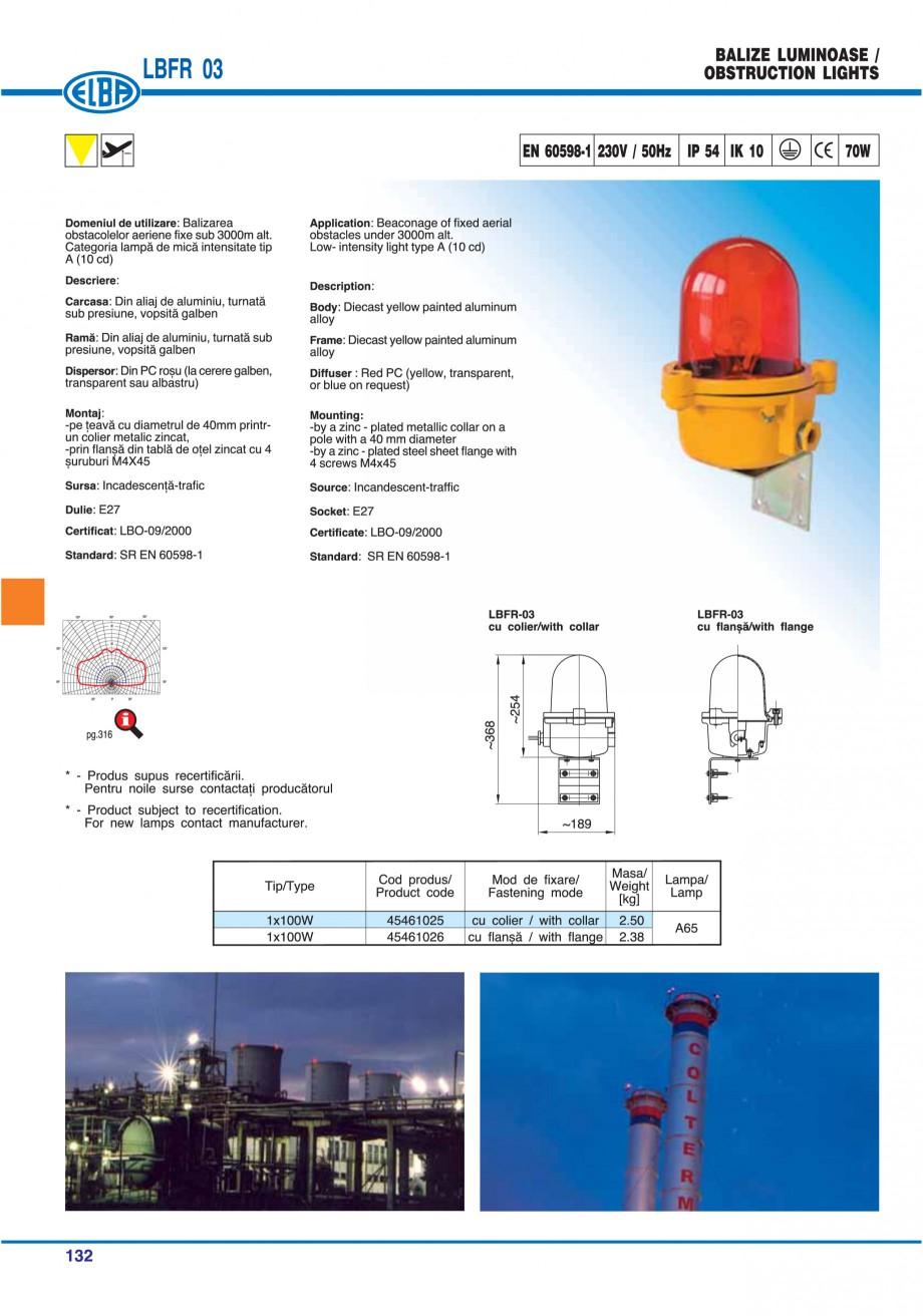 Pagina 135 - Catalog general de produse ELBA ELBA ECRAN CONTRAST, 3S2-TL-LED, 2S2-TL-LED,...