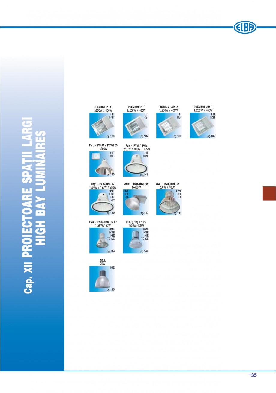 Pagina 138 - Catalog general de produse ELBA ELBA ECRAN CONTRAST, 3S2-TL-LED, 2S2-TL-LED,...