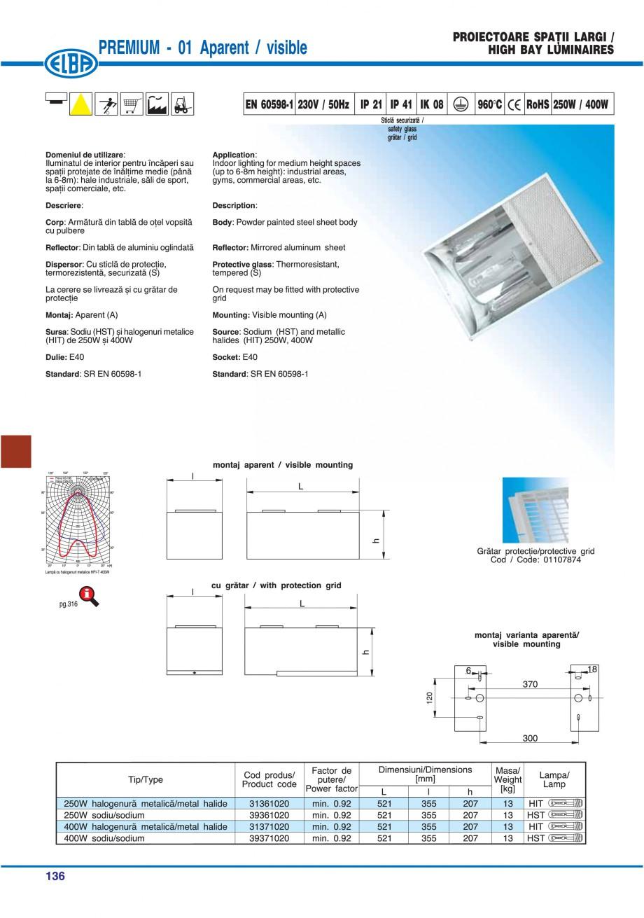 Pagina 139 - Catalog general de produse ELBA ELBA ECRAN CONTRAST, 3S2-TL-LED, 2S2-TL-LED,...