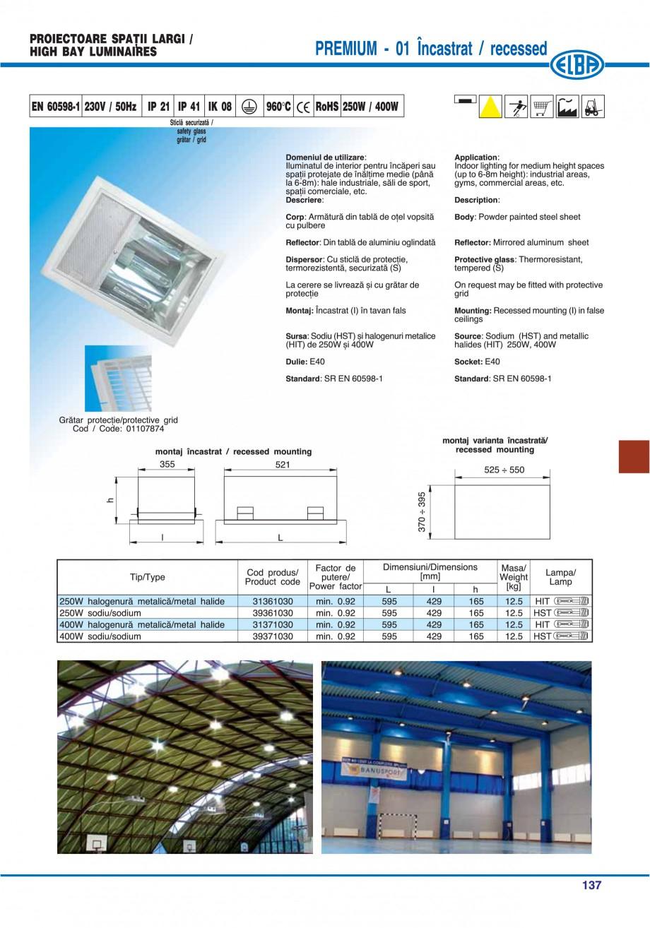 Pagina 140 - Catalog general de produse ELBA ELBA ECRAN CONTRAST, 3S2-TL-LED, 2S2-TL-LED,...