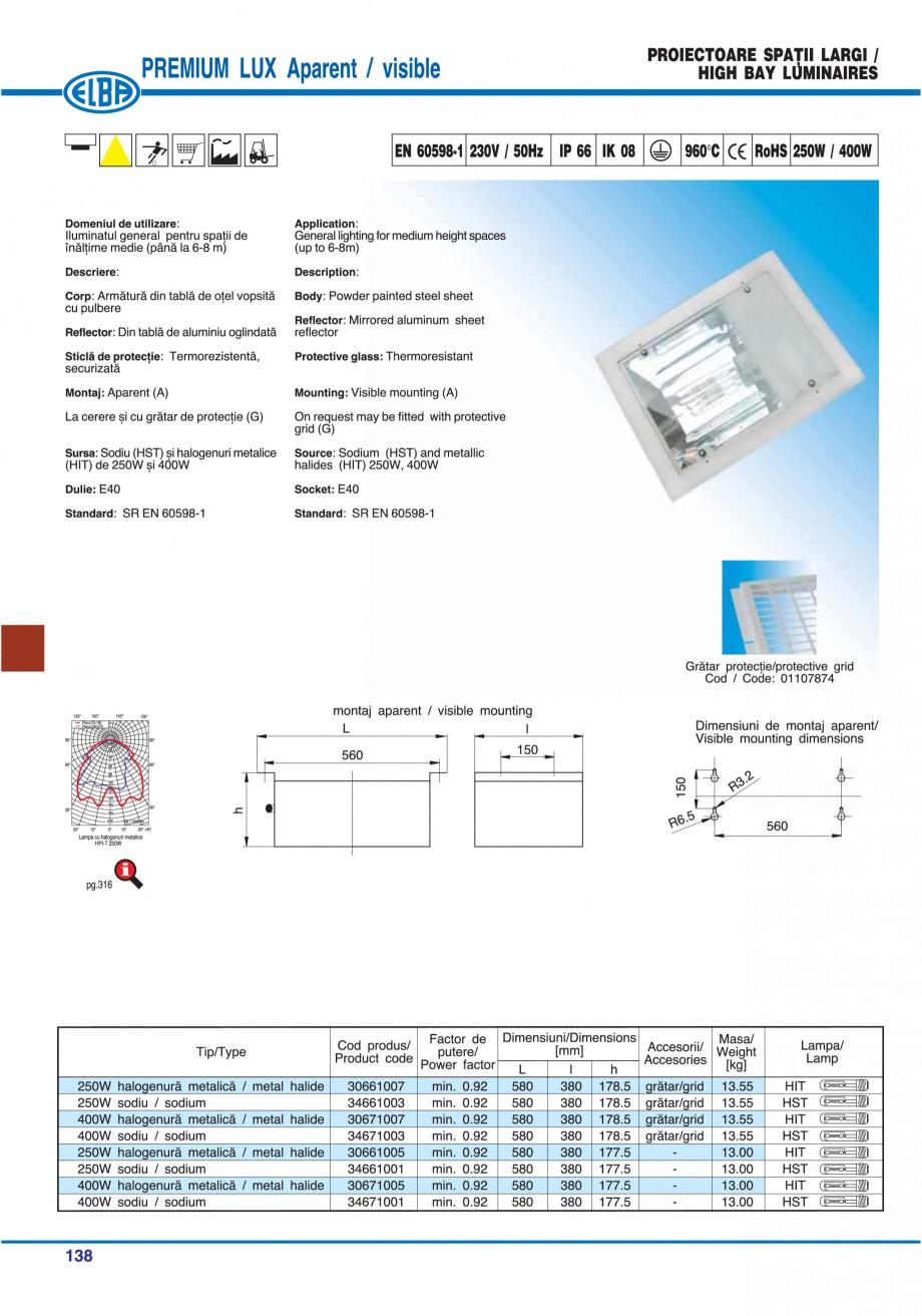 Pagina 141 - Catalog general de produse ELBA ELBA ECRAN CONTRAST, 3S2-TL-LED, 2S2-TL-LED,...
