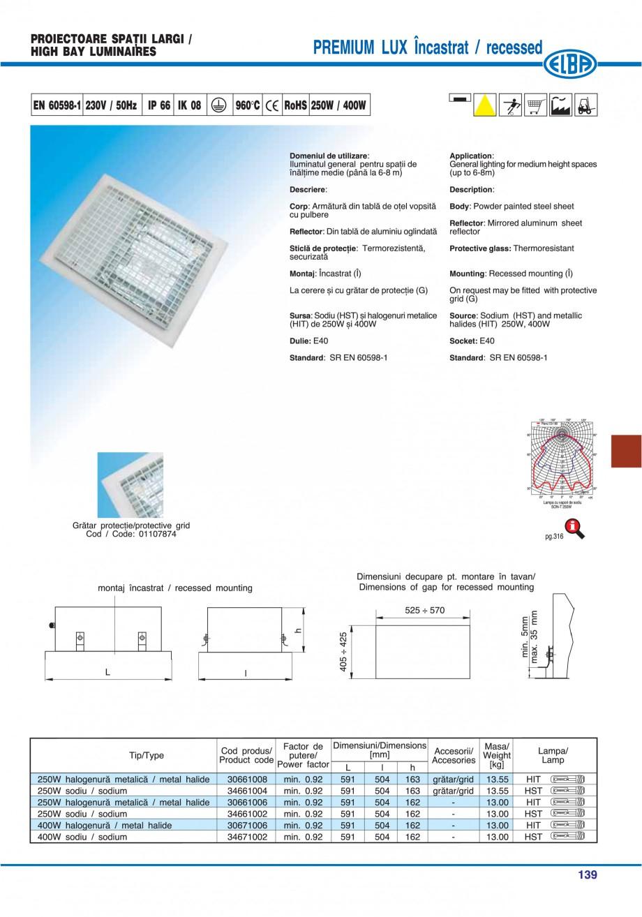 Pagina 142 - Catalog general de produse ELBA ELBA ECRAN CONTRAST, 3S2-TL-LED, 2S2-TL-LED,...