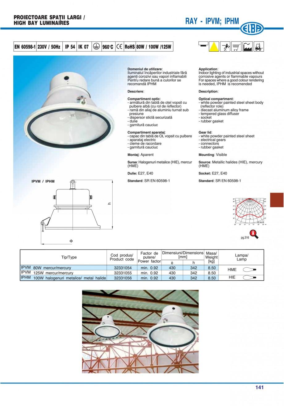 Pagina 144 - Catalog general de produse ELBA ELBA ECRAN CONTRAST, 3S2-TL-LED, 2S2-TL-LED,...
