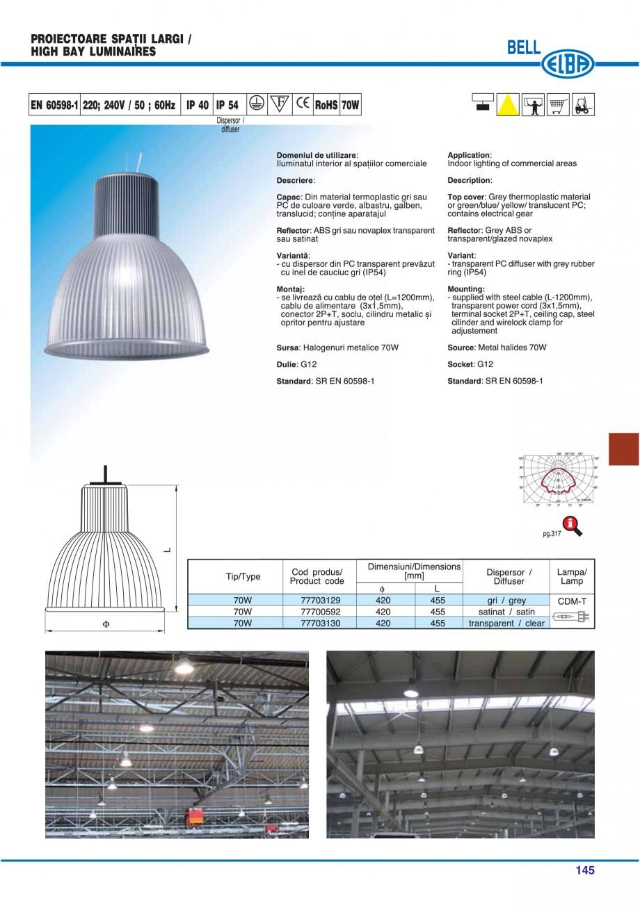 Pagina 148 - Catalog general de produse ELBA ELBA ECRAN CONTRAST, 3S2-TL-LED, 2S2-TL-LED,...