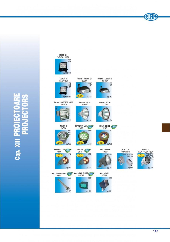 Pagina 150 - Catalog general de produse ELBA ELBA ECRAN CONTRAST, 3S2-TL-LED, 2S2-TL-LED,...