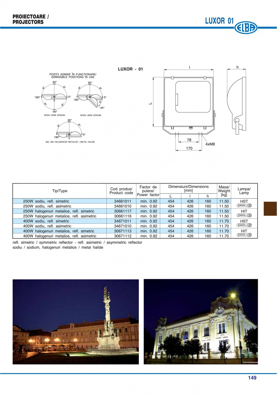 Pagina 152 - Catalog general de produse ELBA ELBA ECRAN CONTRAST, 3S2-TL-LED, 2S2-TL-LED,...