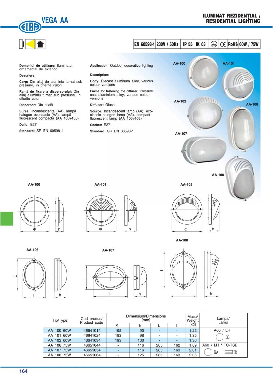 Pagina 167 - Catalog general de produse ELBA ELBA ECRAN CONTRAST, 3S2-TL-LED, 2S2-TL-LED,...
