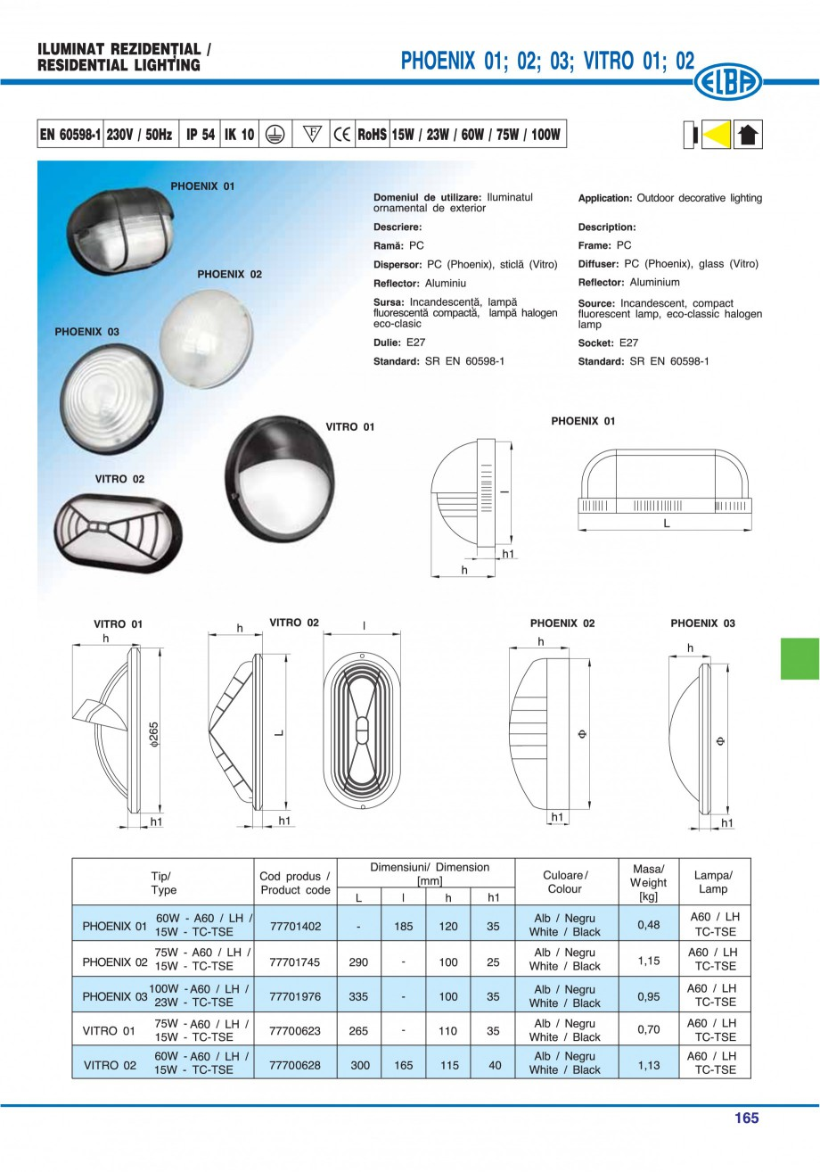 Pagina 168 - Catalog general de produse ELBA ELBA ECRAN CONTRAST, 3S2-TL-LED, 2S2-TL-LED,...