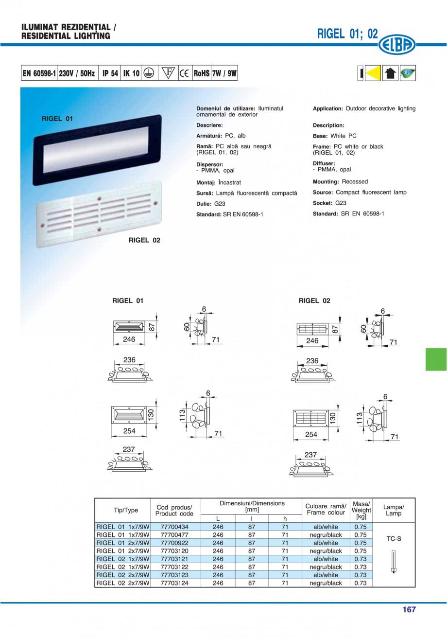 Pagina 170 - Catalog general de produse ELBA ELBA ECRAN CONTRAST, 3S2-TL-LED, 2S2-TL-LED,...