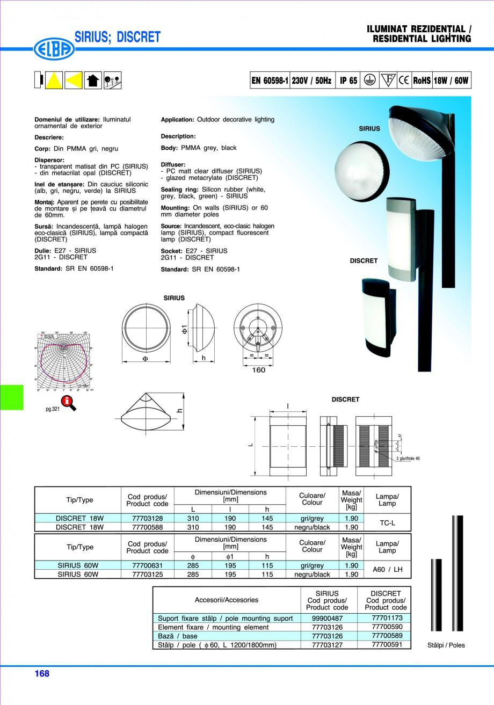 Pagina 171 - Catalog general de produse ELBA ELBA ECRAN CONTRAST, 3S2-TL-LED, 2S2-TL-LED,...