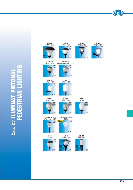 Pagina 176 - Catalog general de produse ELBA ELBA ECRAN CONTRAST, 3S2-TL-LED, 2S2-TL-LED,...