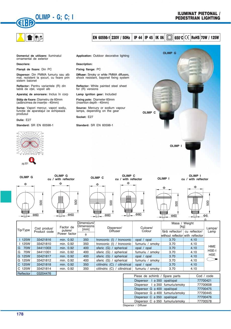 Pagina 181 - Catalog general de produse ELBA ELBA ECRAN CONTRAST, 3S2-TL-LED, 2S2-TL-LED,...