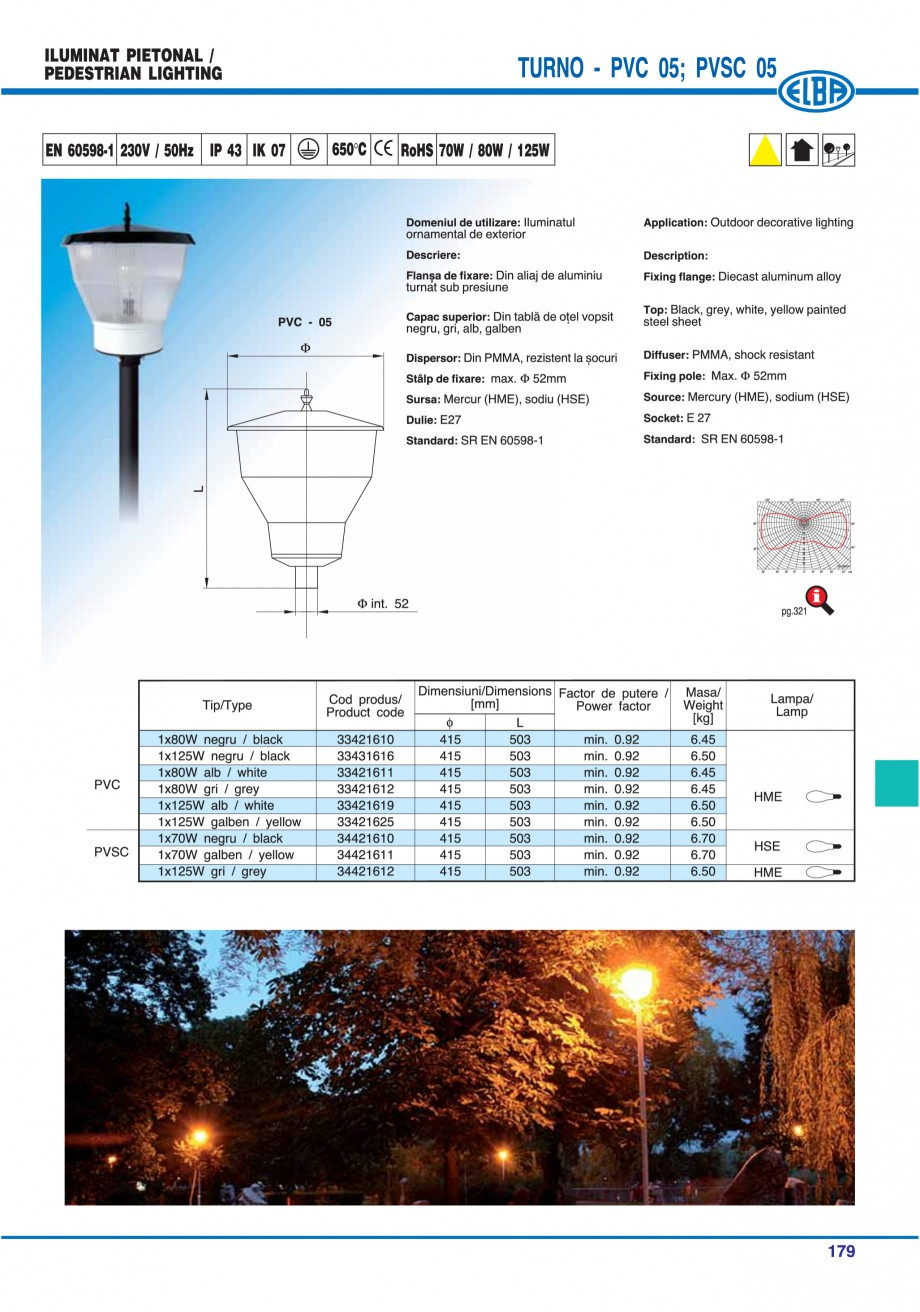 Pagina 182 - Catalog general de produse ELBA ELBA ECRAN CONTRAST, 3S2-TL-LED, 2S2-TL-LED,...