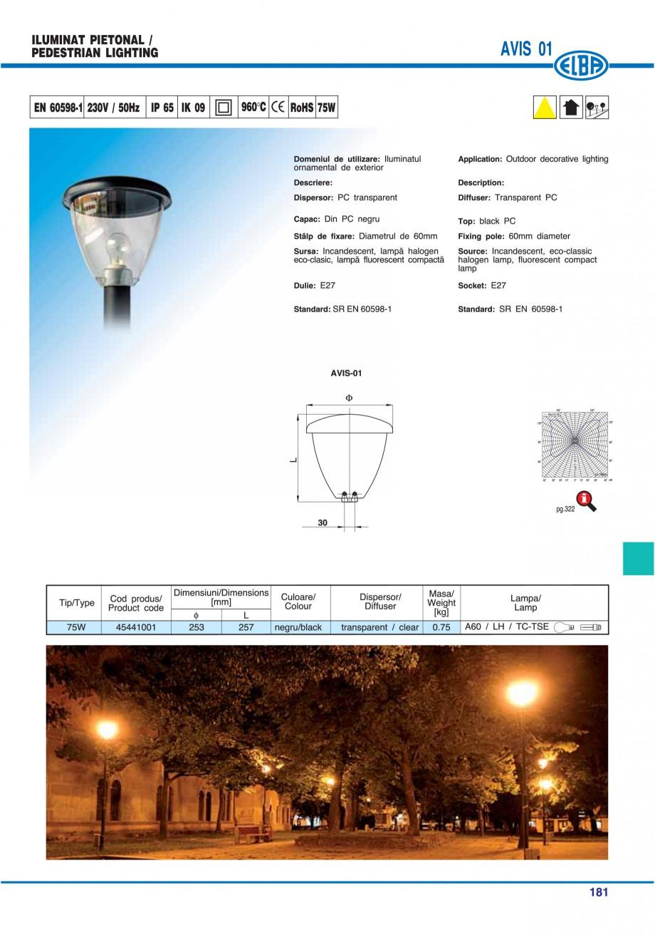 Pagina 184 - Catalog general de produse ELBA ELBA ECRAN CONTRAST, 3S2-TL-LED, 2S2-TL-LED,...