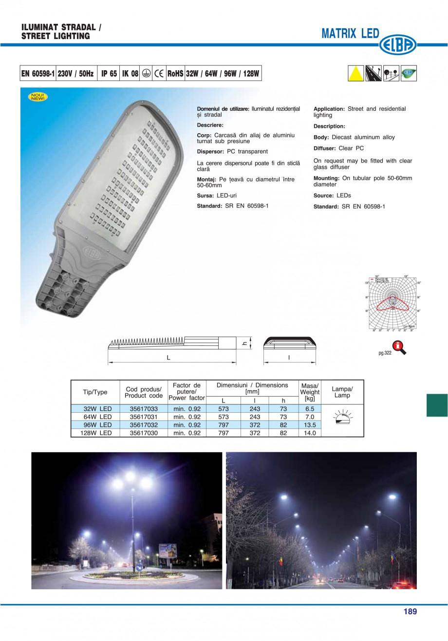 Pagina 192 - Catalog general de produse ELBA ELBA ECRAN CONTRAST, 3S2-TL-LED, 2S2-TL-LED,...