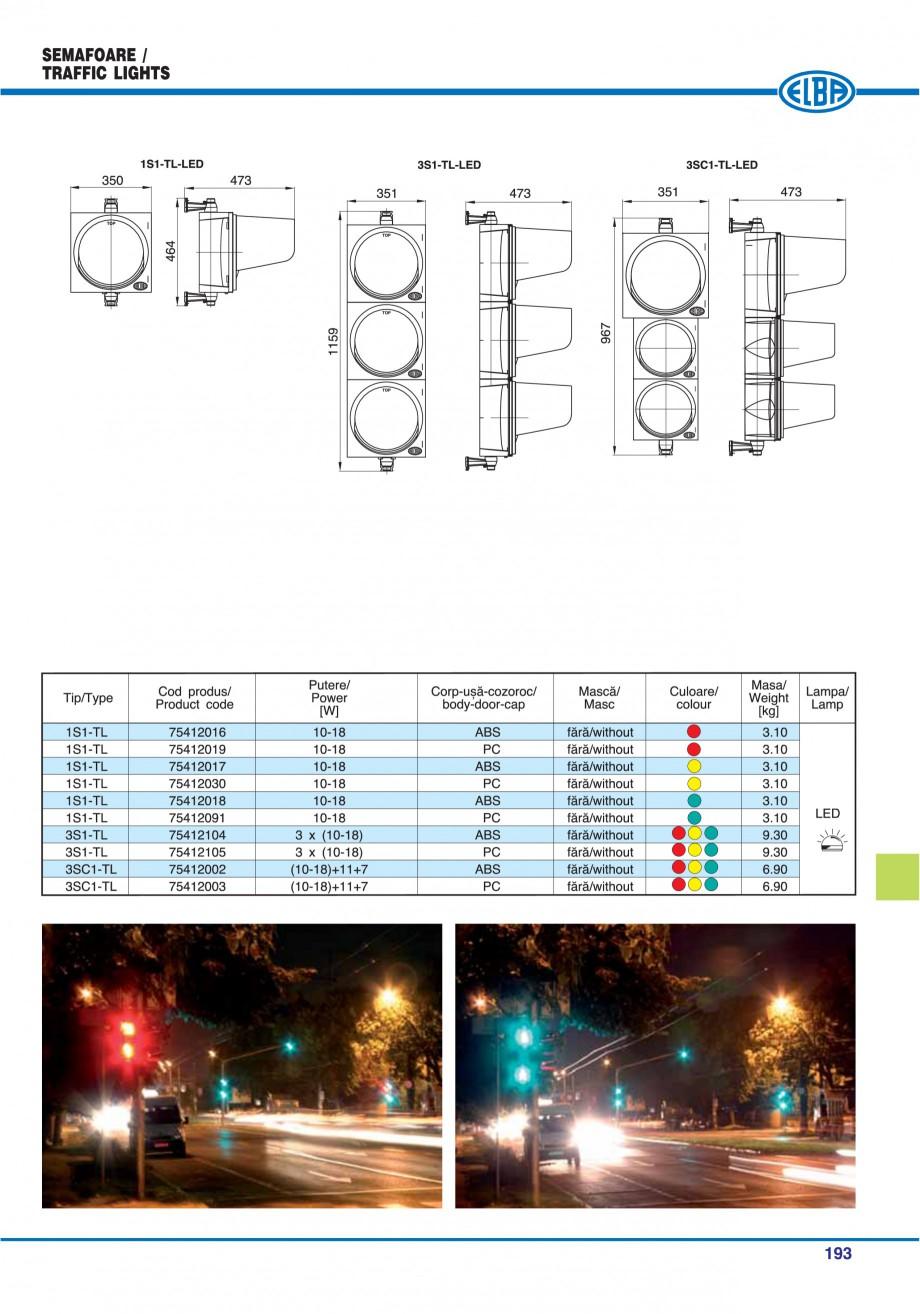Pagina 196 - Catalog general de produse ELBA ELBA ECRAN CONTRAST, 3S2-TL-LED, 2S2-TL-LED,...