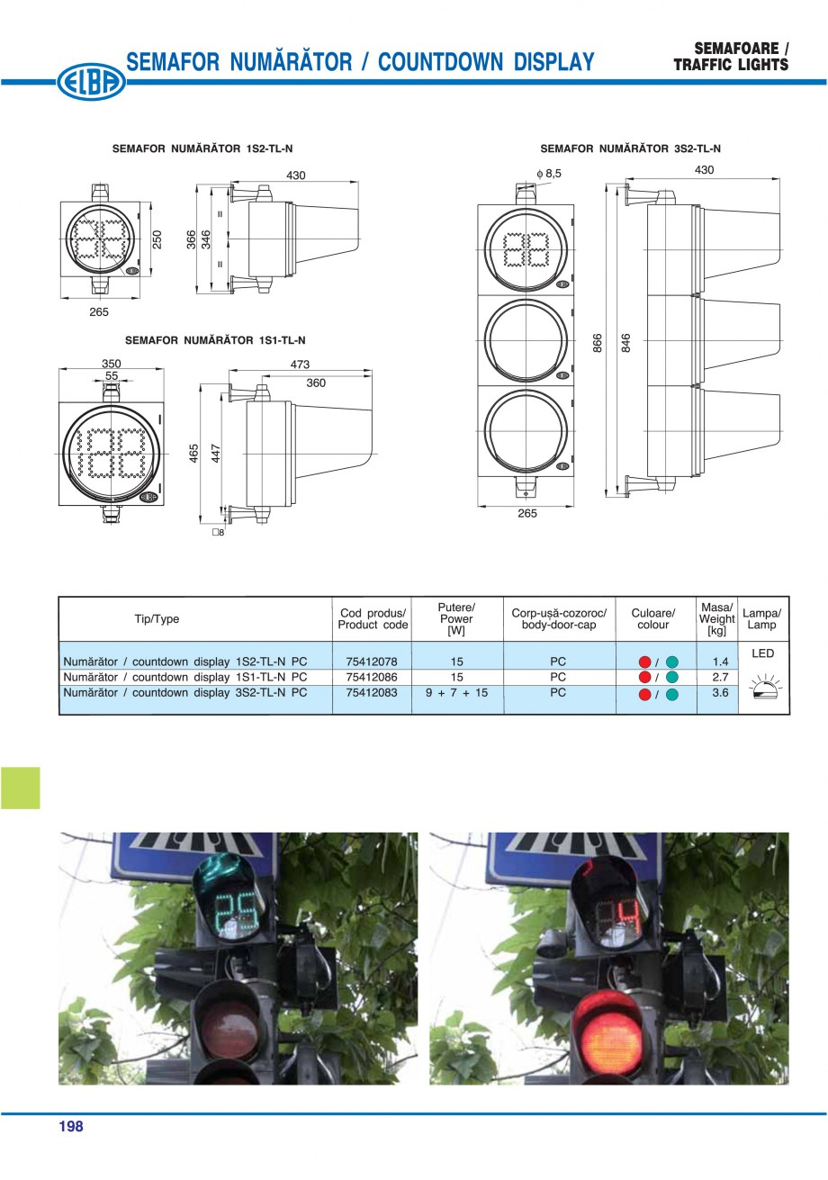 Pagina 201 - Catalog general de produse ELBA ELBA ECRAN CONTRAST, 3S2-TL-LED, 2S2-TL-LED,...
