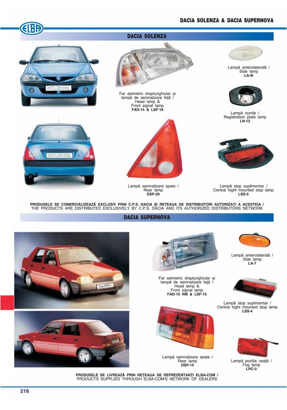Pagina 219 - Catalog general de produse ELBA ELBA ECRAN CONTRAST, 3S2-TL-LED, 2S2-TL-LED,...