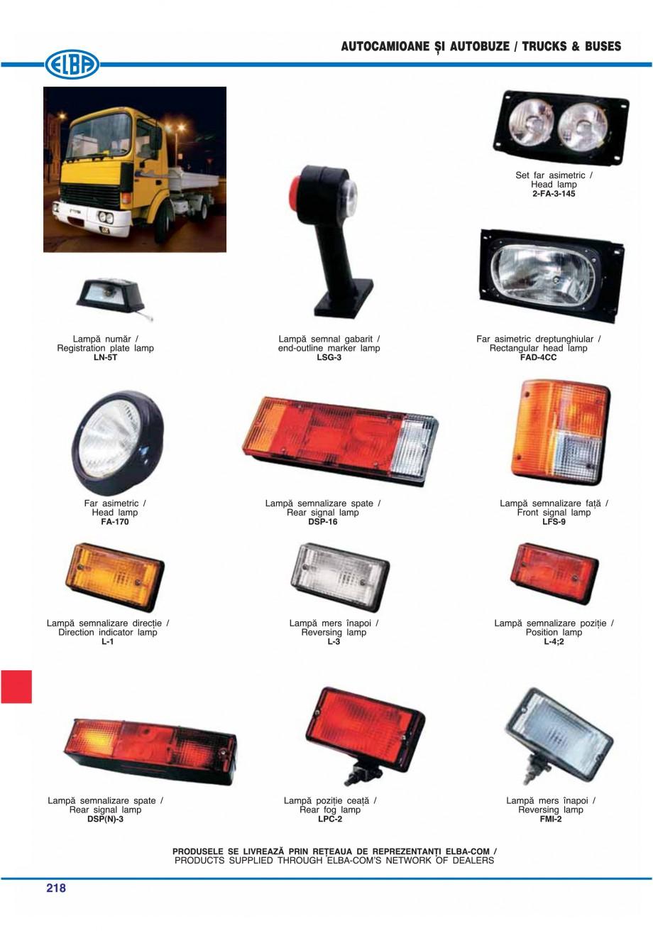 Pagina 221 - Catalog general de produse ELBA ELBA ECRAN CONTRAST, 3S2-TL-LED, 2S2-TL-LED,...