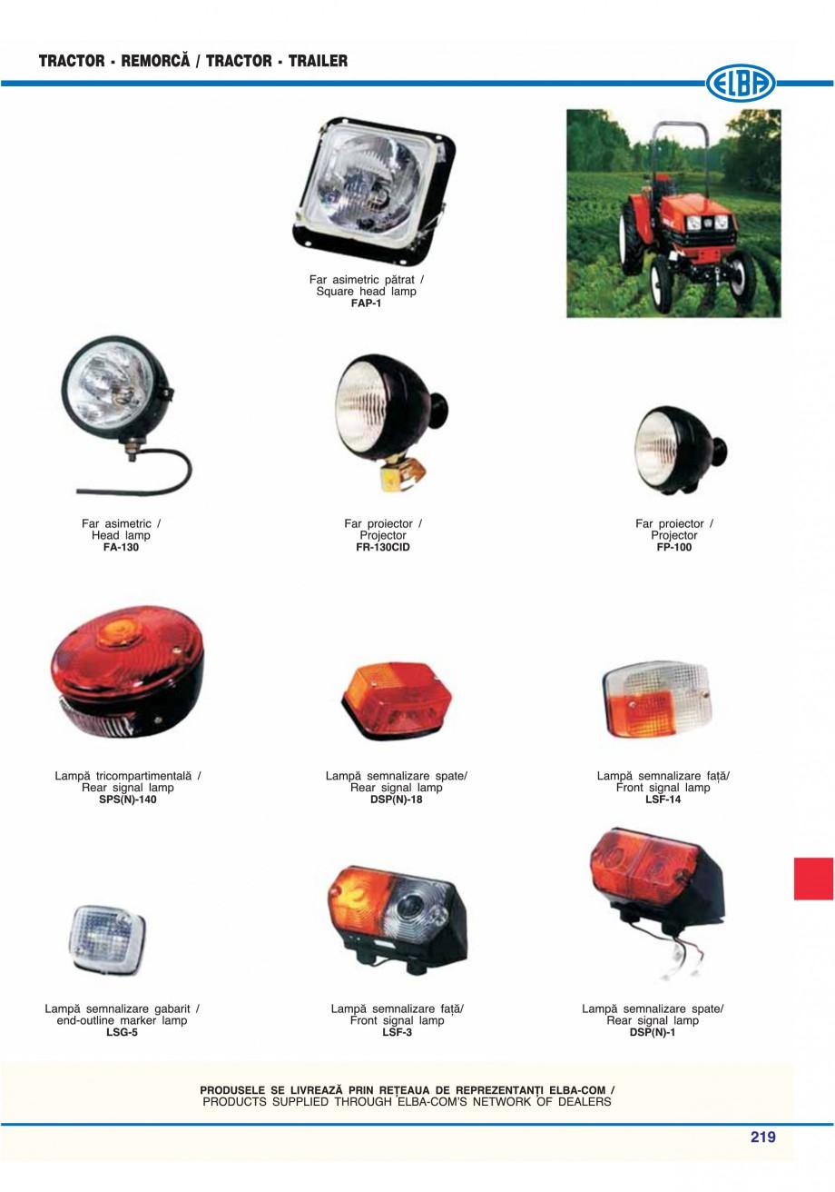 Pagina 222 - Catalog general de produse ELBA ELBA ECRAN CONTRAST, 3S2-TL-LED, 2S2-TL-LED,...