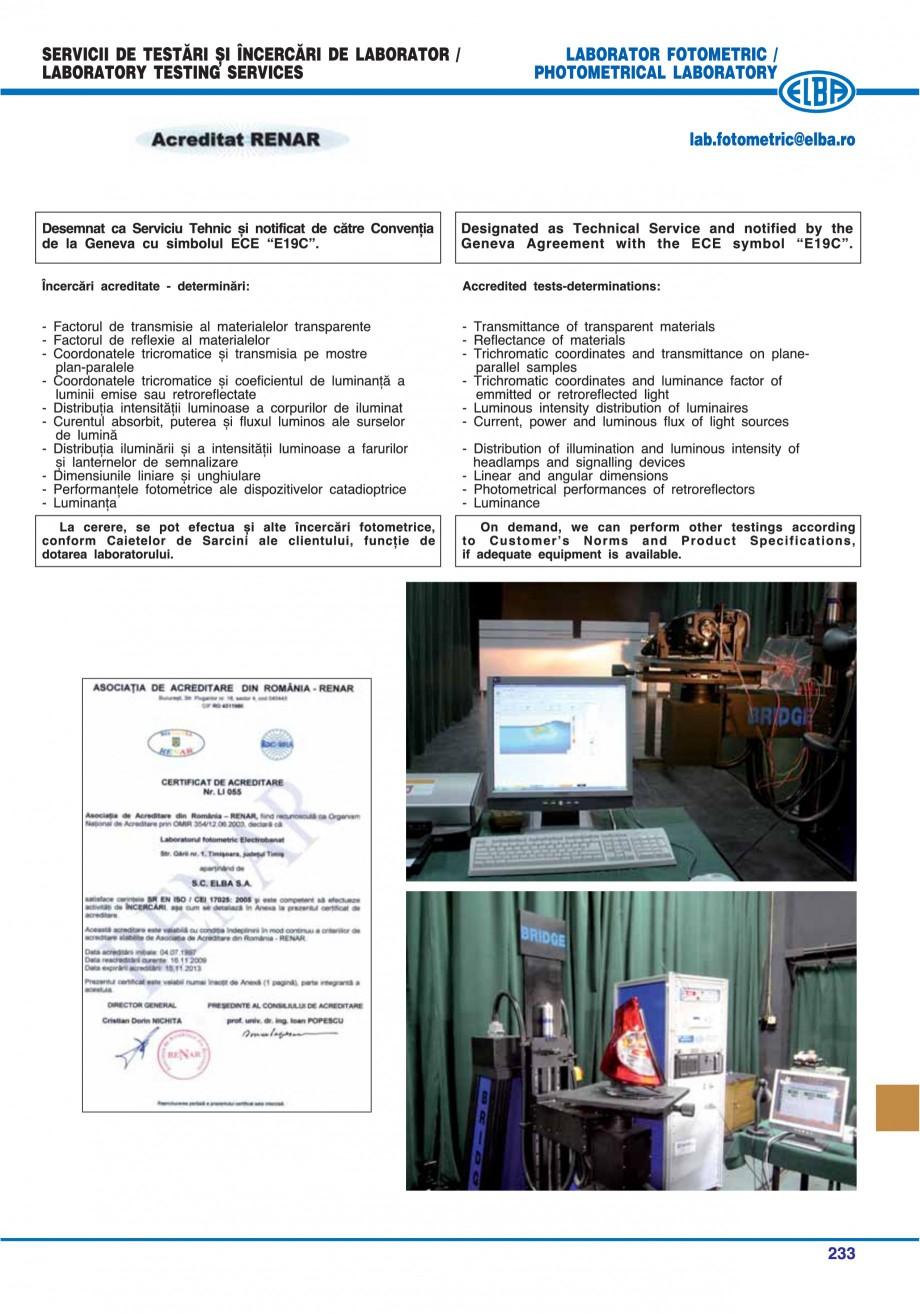 Pagina 236 - Catalog general de produse ELBA ELBA ECRAN CONTRAST, 3S2-TL-LED, 2S2-TL-LED,...