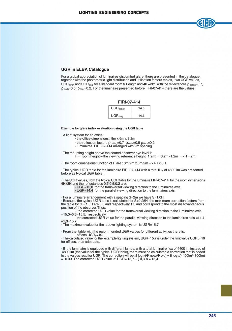 Pagina 248 - Catalog general de produse ELBA ELBA ECRAN CONTRAST, 3S2-TL-LED, 2S2-TL-LED,...
