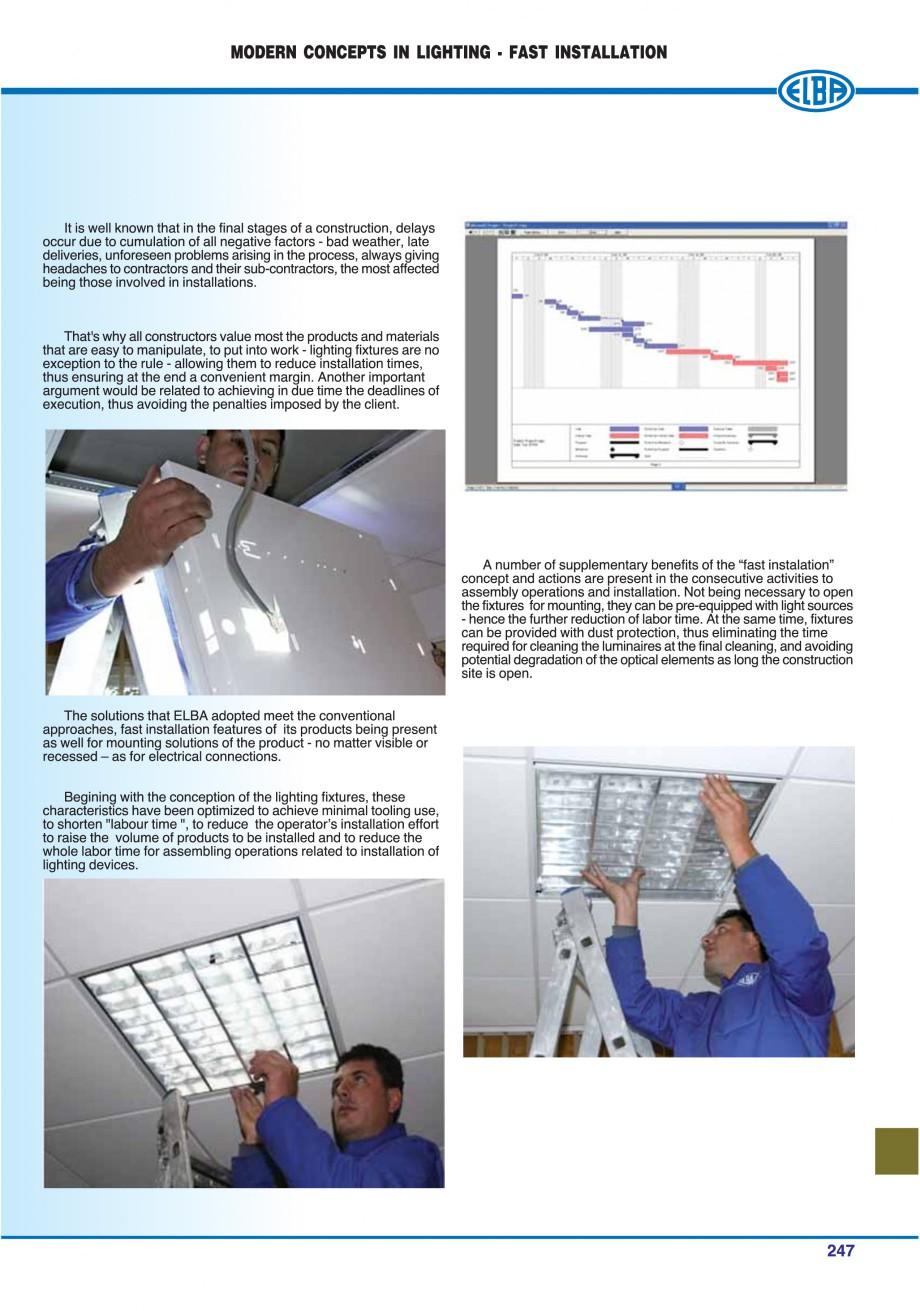 Pagina 250 - Catalog general de produse ELBA ELBA ECRAN CONTRAST, 3S2-TL-LED, 2S2-TL-LED,...