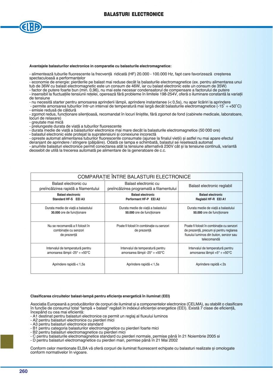 Pagina 263 - Catalog general de produse ELBA ELBA ECRAN CONTRAST, 3S2-TL-LED, 2S2-TL-LED,...