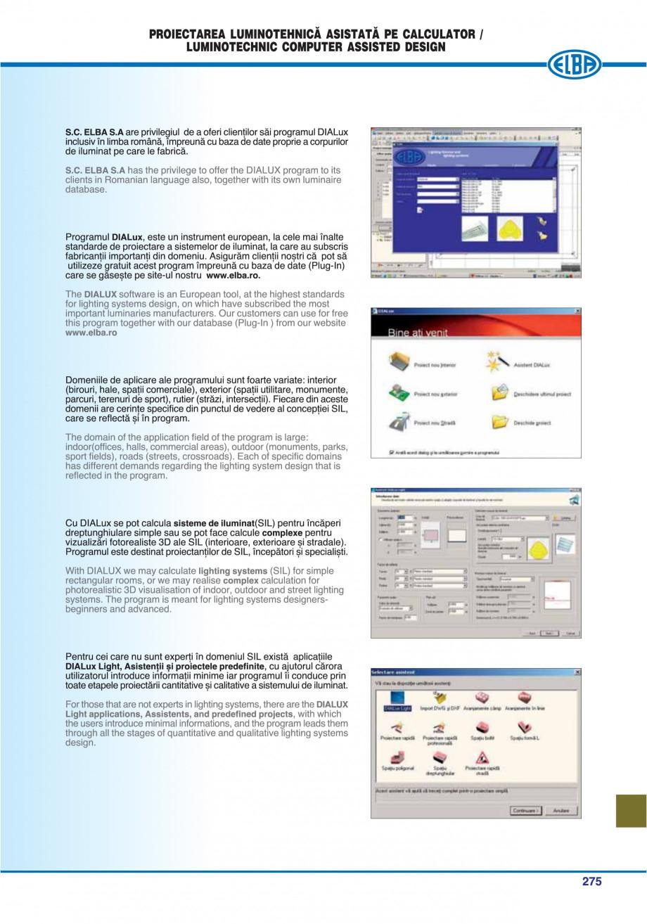 Pagina 278 - Catalog general de produse ELBA ELBA ECRAN CONTRAST, 3S2-TL-LED, 2S2-TL-LED,...