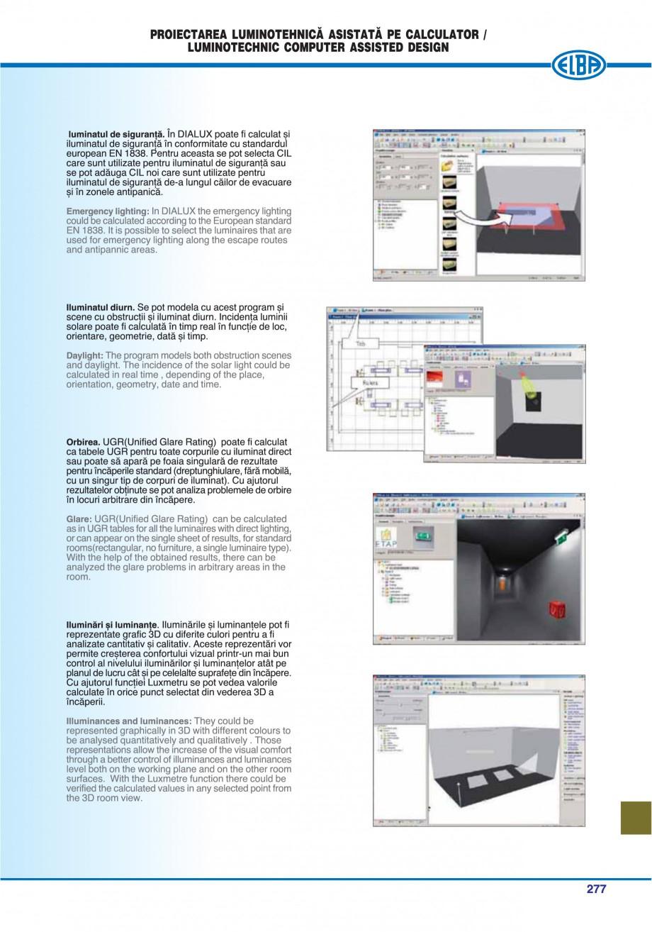 Pagina 280 - Catalog general de produse ELBA ELBA ECRAN CONTRAST, 3S2-TL-LED, 2S2-TL-LED,...