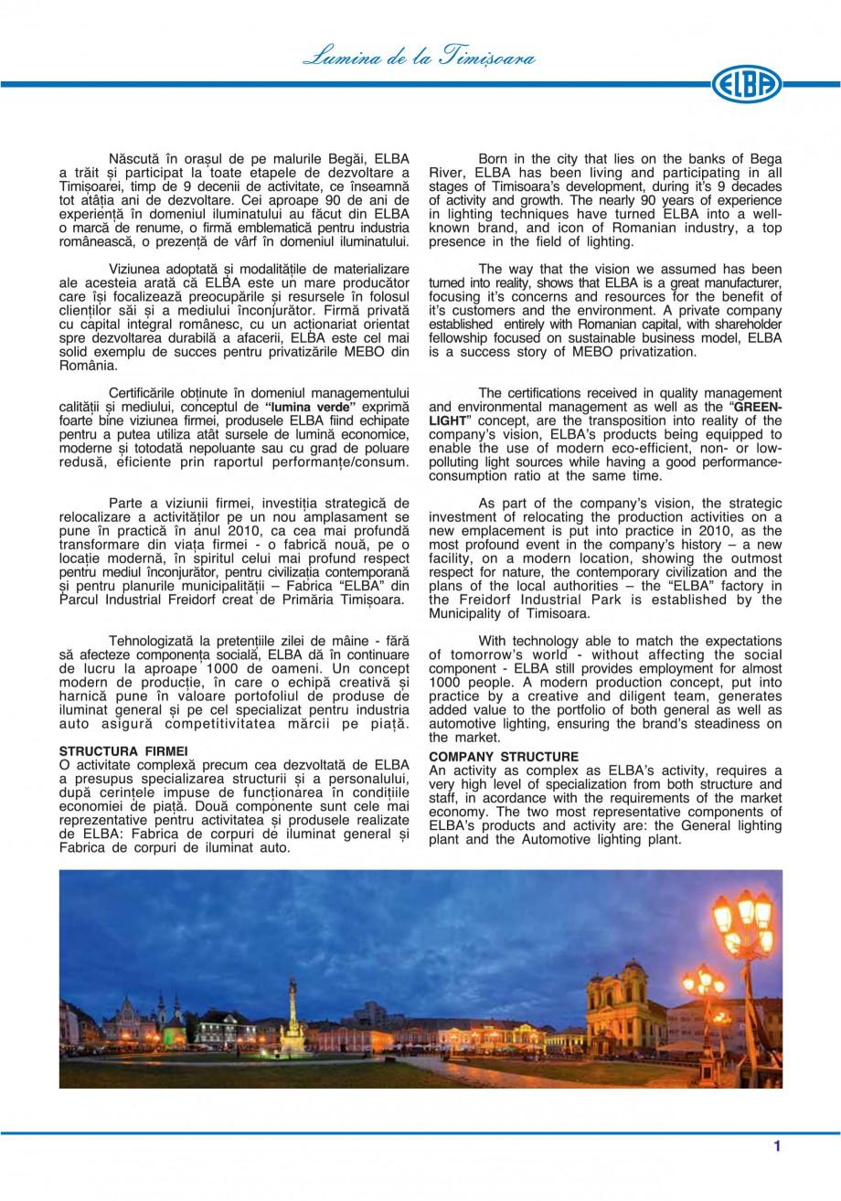 Pagina 4 - Catalog general de produse ELBA ELBA-COM CFSM 03, AV 02 C, AI 02 C Catalog, brosura...