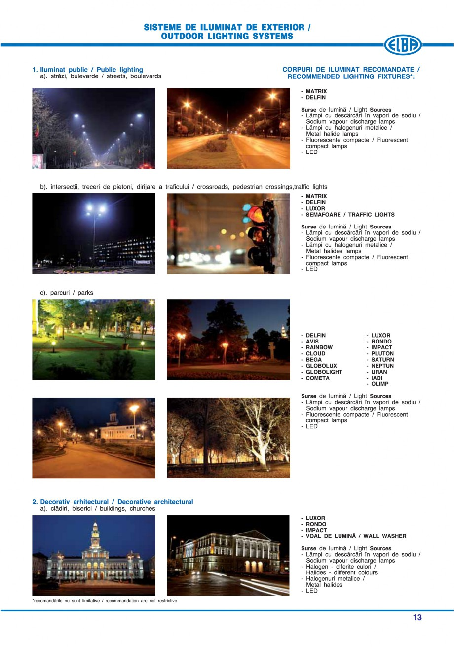 Pagina 16 - Catalog general de produse ELBA ELBA-COM CFSM 03, AV 02 C, AI 02 C Catalog, brosura...