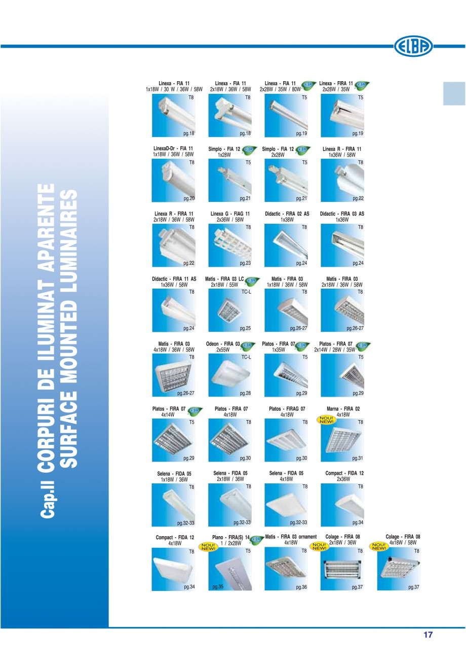 Pagina 20 - Catalog general de produse ELBA ELBA-COM CFSM 03, AV 02 C, AI 02 C Catalog, brosura...