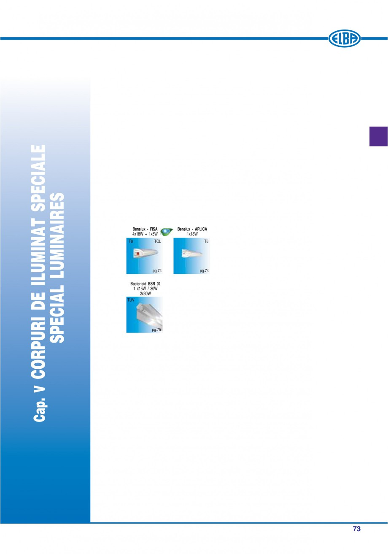 Pagina 72 - Catalog general de produse ELBA ELBA-COM CFSM 03, AV 02 C, AI 02 C Catalog, brosura...