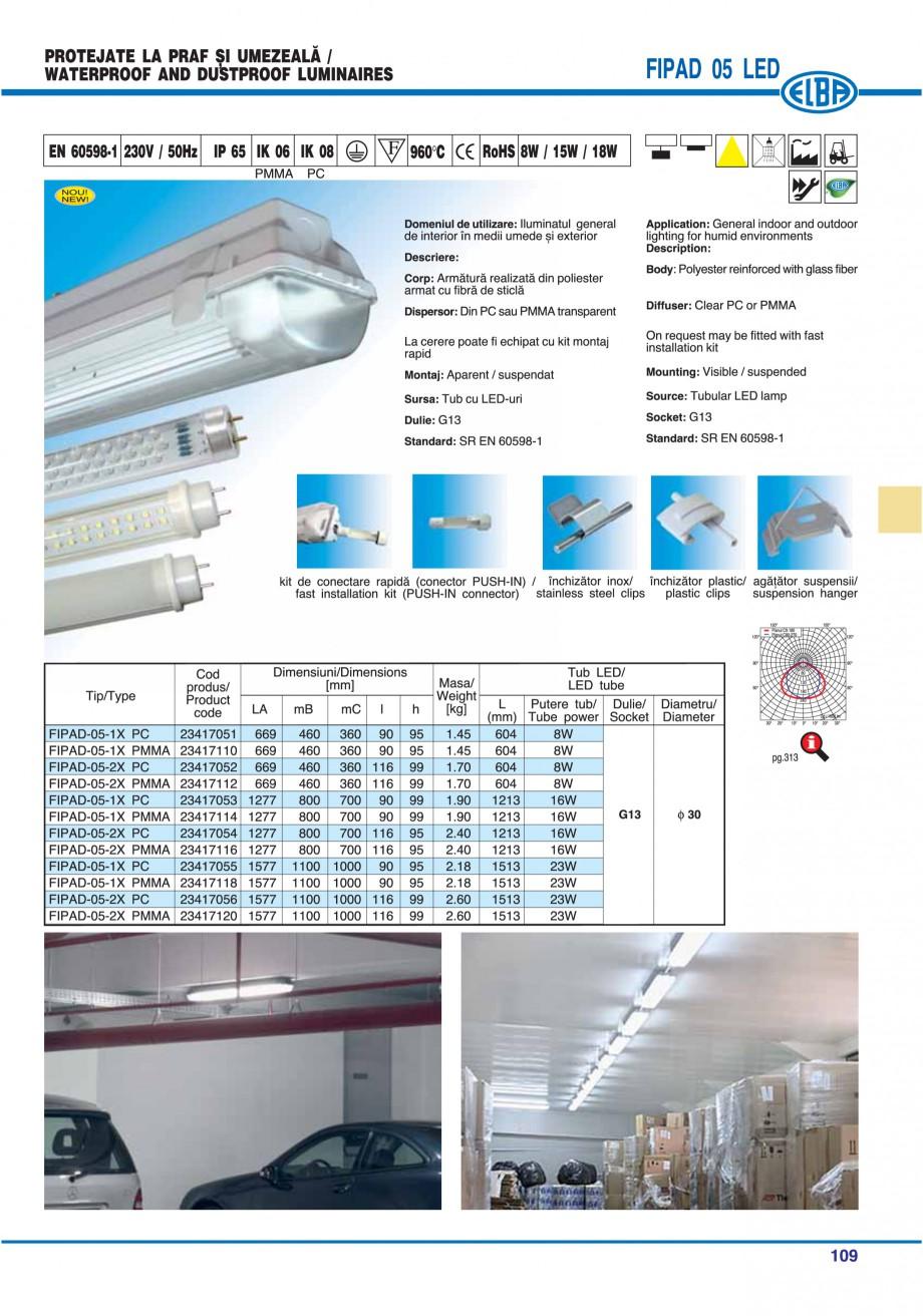 Pagina 108 - Catalog general de produse ELBA ELBA-COM CFSM 03, AV 02 C, AI 02 C Catalog, brosura...