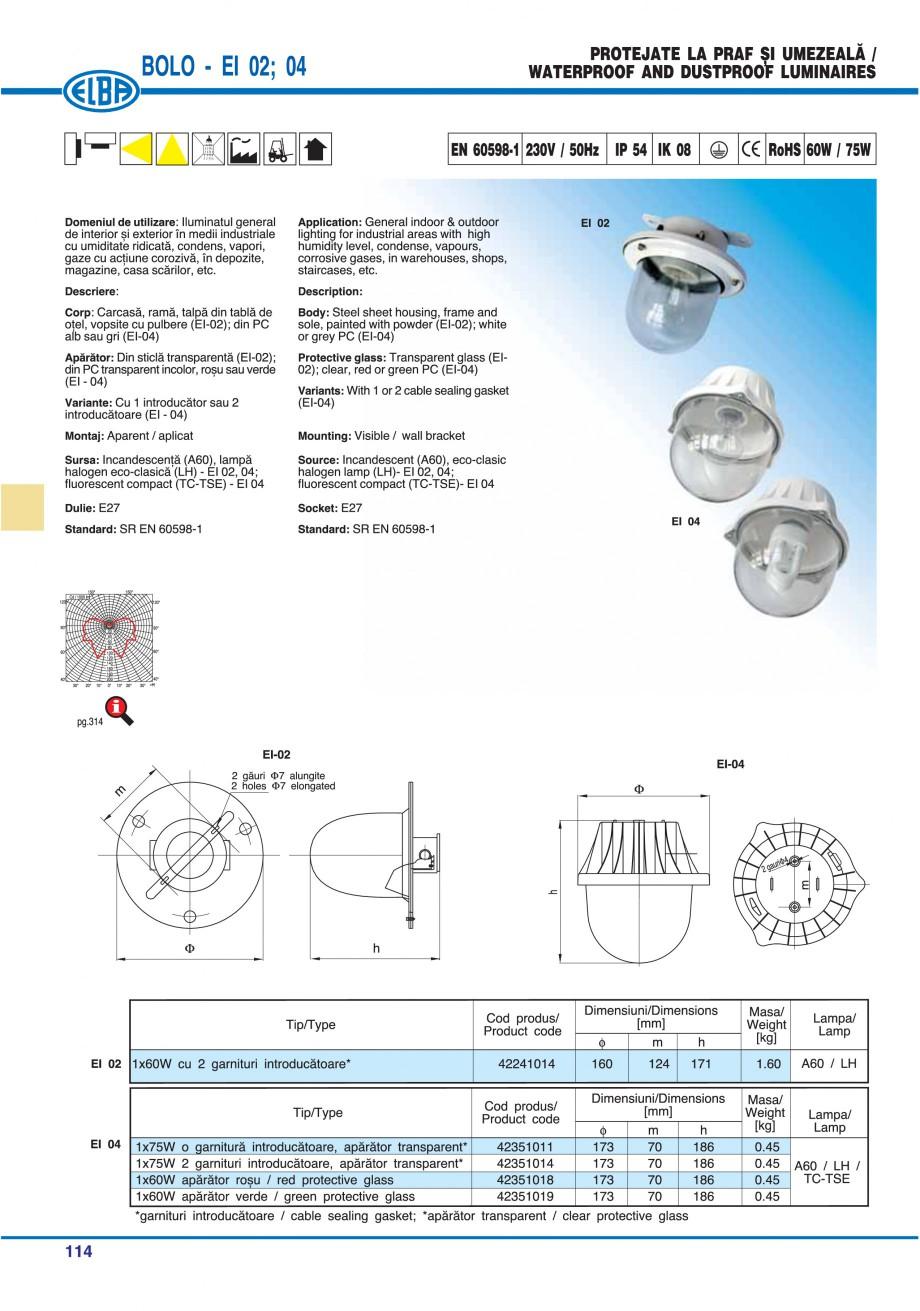 Pagina 113 - Catalog general de produse ELBA ELBA-COM CFSM 03, AV 02 C, AI 02 C Catalog, brosura...