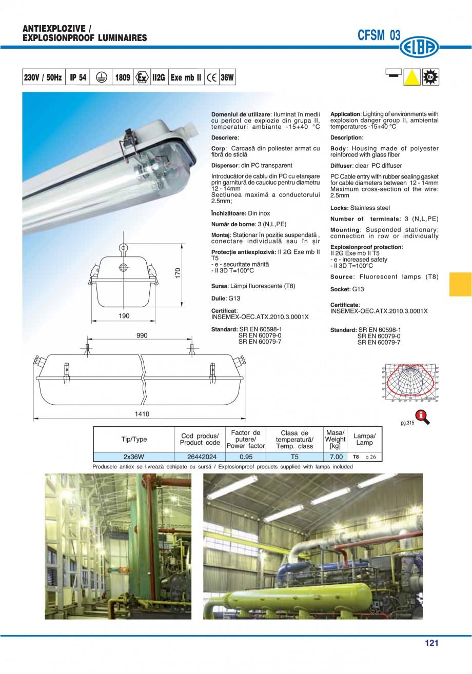 Pagina 120 - Catalog general de produse ELBA ELBA-COM CFSM 03, AV 02 C, AI 02 C Catalog, brosura...