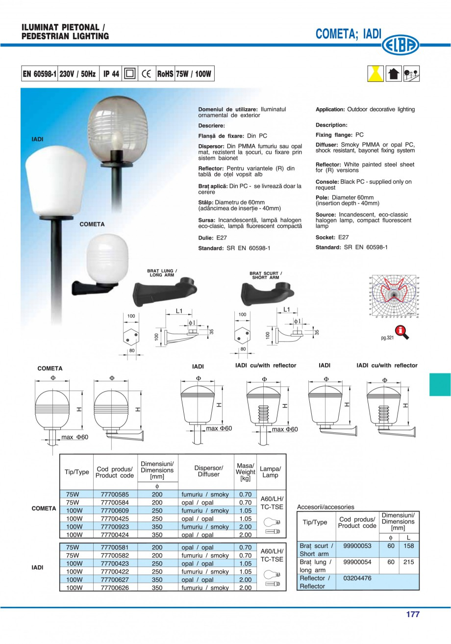 Pagina 176 - Catalog general de produse ELBA ELBA-COM CFSM 03, AV 02 C, AI 02 C Catalog, brosura...