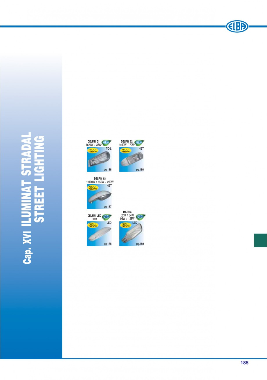 Pagina 184 - Catalog general de produse ELBA ELBA-COM CFSM 03, AV 02 C, AI 02 C Catalog, brosura...