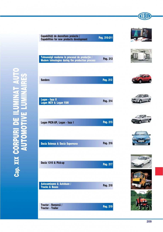 Pagina 205 - Catalog general de produse ELBA ELBA-COM CFSM 03, AV 02 C, AI 02 C Catalog, brosura...