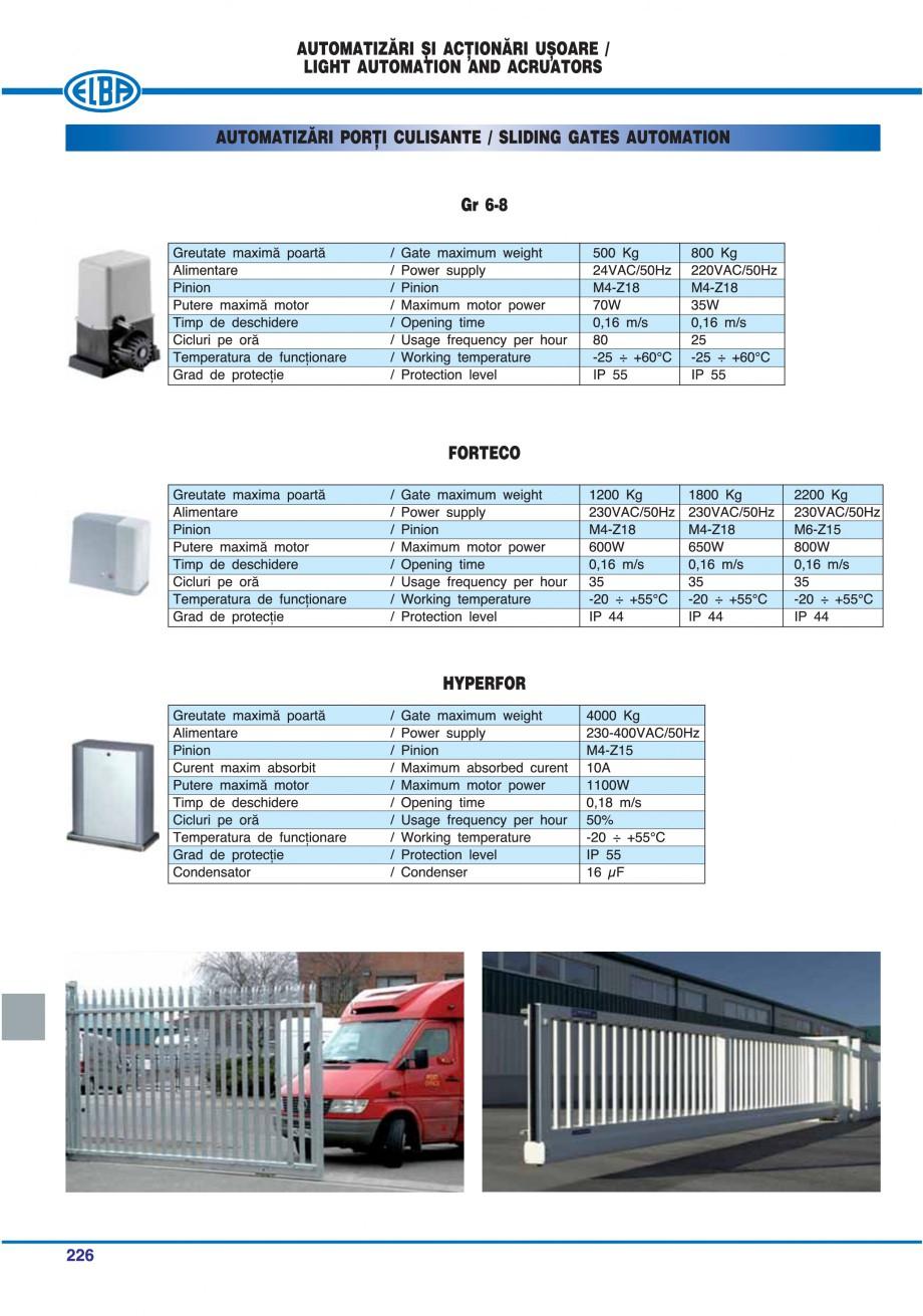 Pagina 221 - Catalog general de produse ELBA ELBA-COM CFSM 03, AV 02 C, AI 02 C Catalog, brosura...