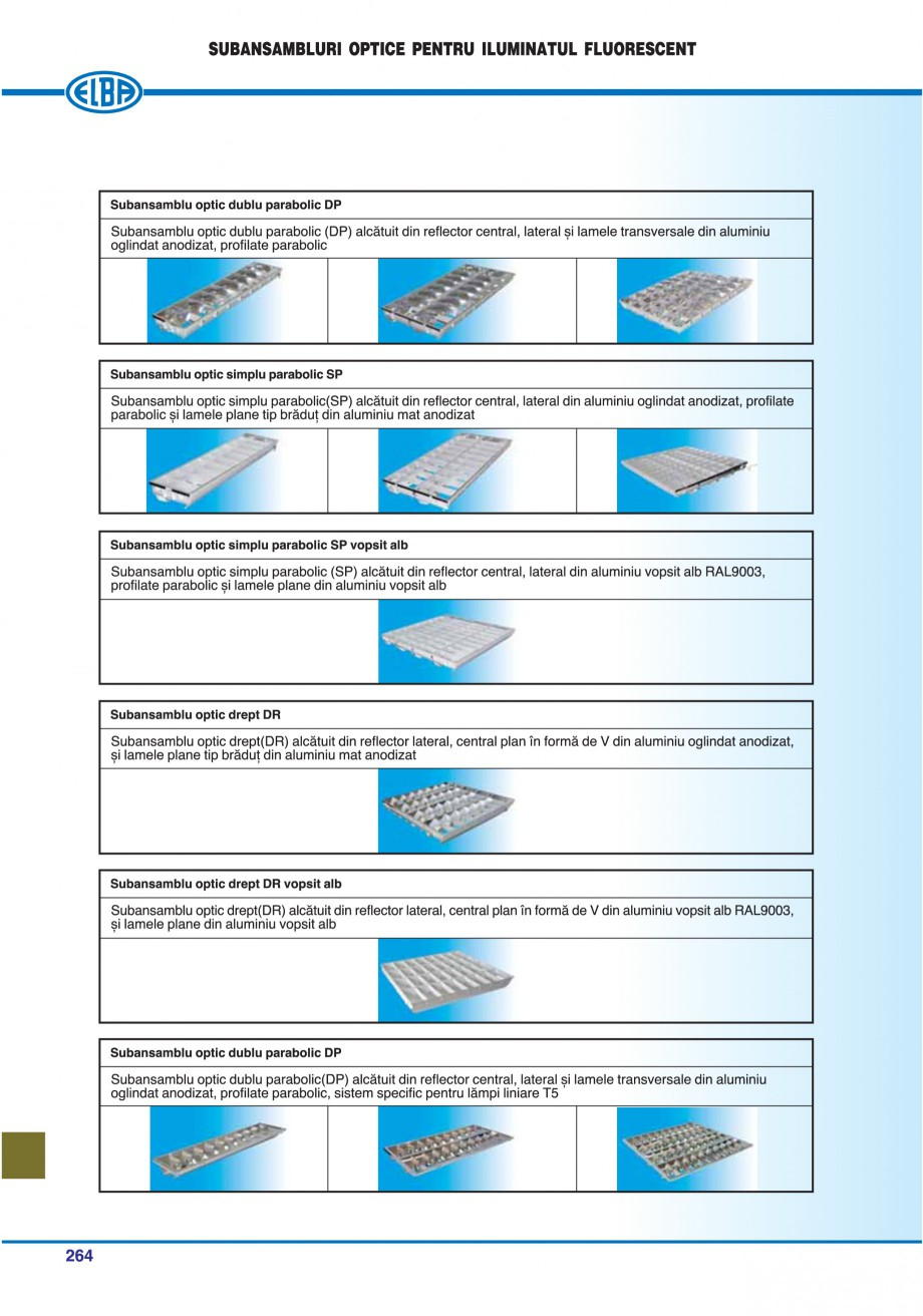 Pagina 259 - Catalog general de produse ELBA ELBA-COM CFSM 03, AV 02 C, AI 02 C Catalog, brosura...