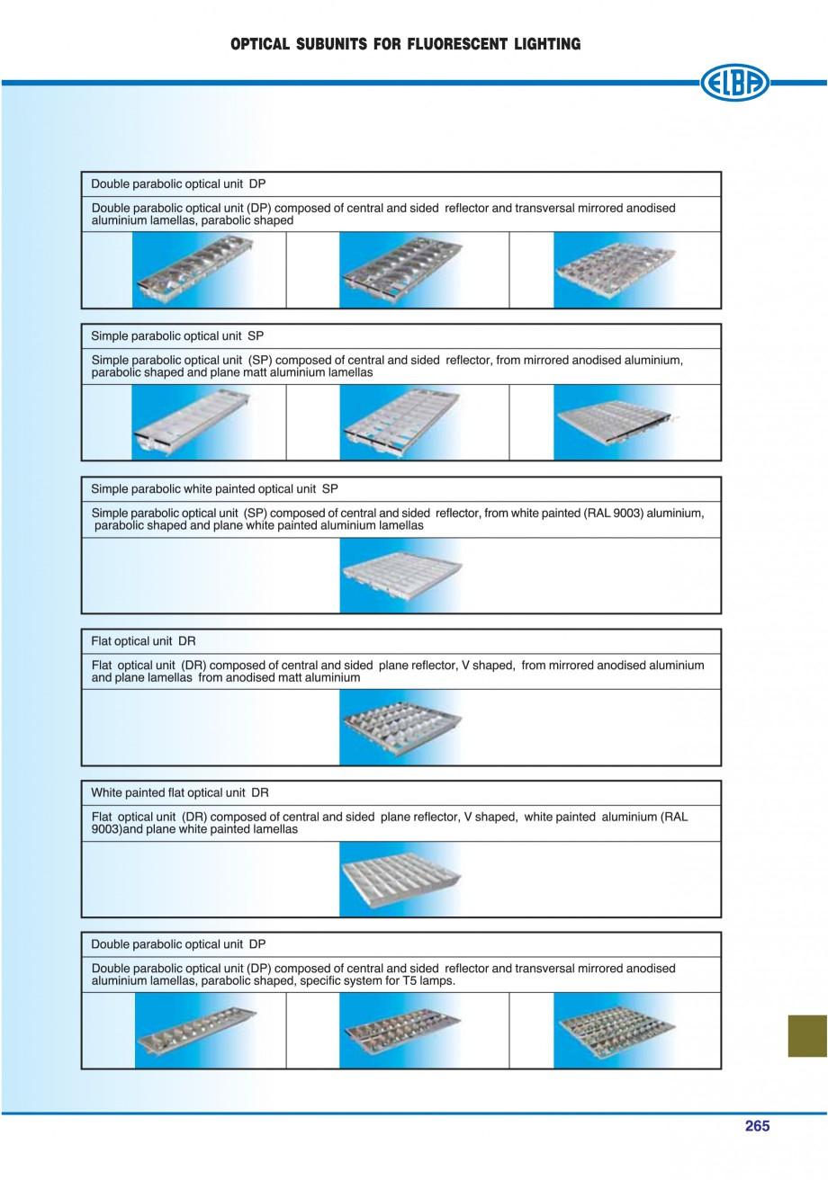 Pagina 260 - Catalog general de produse ELBA ELBA-COM CFSM 03, AV 02 C, AI 02 C Catalog, brosura...