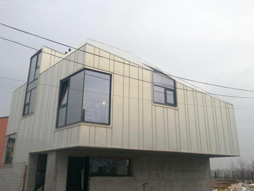 Proiect rezidential fatada si invelitoare, cu tabla faltuita Onyx Pearl - Bucuresti ACOPERO - Poza 2