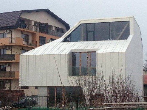 Proiect rezidential fatada si invelitoare, cu tabla faltuita Onyx Pearl - Bucuresti ACOPERO - Poza 4
